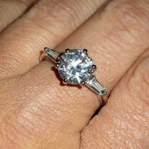 💎Vintage💎 3ct. AAA CZ Engagement Ring